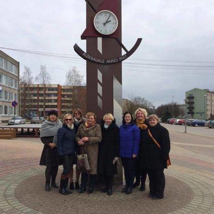 Igauņu pieaugušo izglītotāju pieredzes apmaiņas vizīte Aizkrauklē 2017